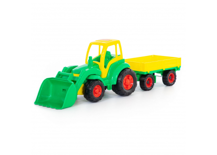 """""""Champion"""", tractor cu cupă și remorcă (plasă) (Polesie) art.0520"""