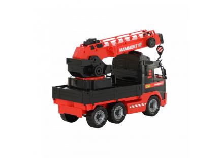 """""""MAMMOET VOLVO"""", camion cu macara cu platformă rotativă (Polesie) art.56979"""