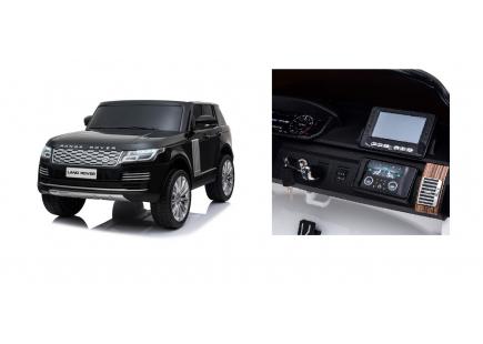 Mașina cu acumulator Land Rover neagră
