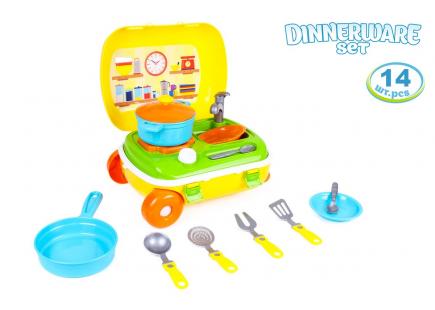 """Jucărie """"Bucătărie cu un set de vase TechnoK"""", art. 6078"""