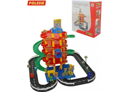Паркинг 5-уровневый с дорогой и автомобилями (в коробке)(Полесье) арт.38104