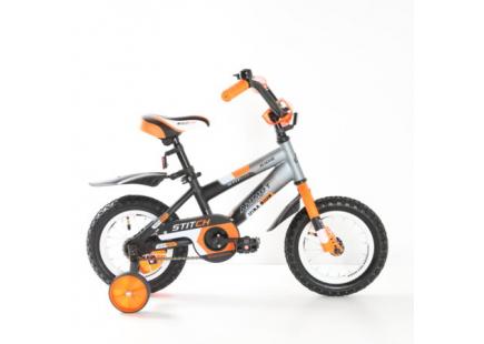 Bicicleta Mustang Stitch* 12″ Orange/White/Black