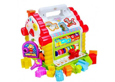 Jucarie casuta cu forme-lumini-sunete Hola Toys