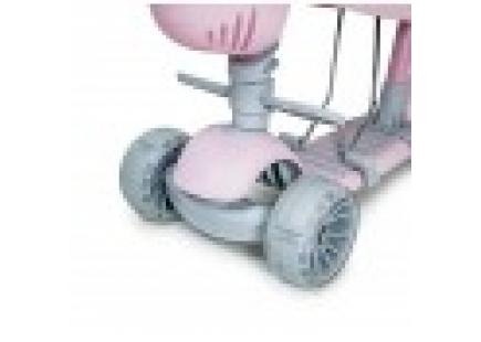 SCOOTER CU SCAUN ȘI MÂNER (ILUMINAREA ROȚII) roz