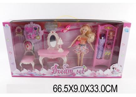 Кукла с набором мебели Арт.23284