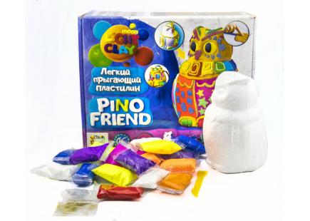 Set de plastilină pentru sărituri ușoare Pino Friend Puffy TM Moon light clay art.70034