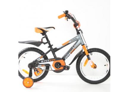 Bicicleta *Mustang Stitch* 16″ Orange/White/Black