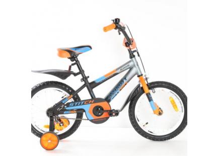 Bicicleta *Mustang Stitch* 16″ Orange/Blue