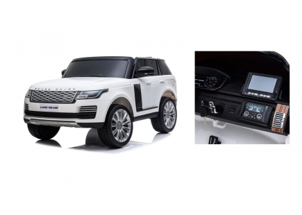 Mașină  cu acumulator Land Rover albă