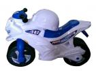 Tolocar-motocicletă cu cască (alb) Art.501P
