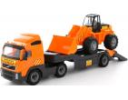 """""""Volvo"""", автомобиль-трейлер + трактор-погрузчик (в сеточке)(Полесье) Арт.36803"""
