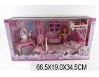 Кукла с набором мебели Арт.23277
