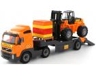 "Volvo "", Remorcă auto + autocar + constructor"" Super-Mix ""- 30 ale. (Polesie) Art.36797"