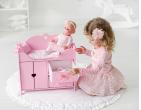 Деревянная Кроватка для кукол с постельным бельем
